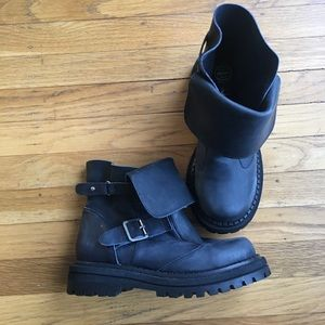 Jeffrey Campbell Black Buckled Boots